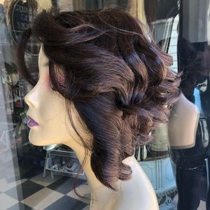 Accessories - Brown Asymmetrical Bob Wig 2019 Hairstyle curly